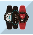 smart watch design vector image vector image