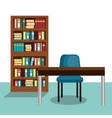 study room house icon vector image vector image