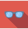 Sunglasses colored flat icon vector image vector image