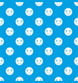 suspicious emotpattern seamless blue vector image vector image