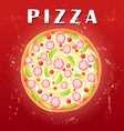 tasty pizza vector image vector image