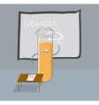 Test tube writes glucose formula on the blackboard vector image vector image