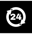 The 24 hours icon Twenty-four hours open symbol vector image vector image