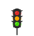 traffic light icon signal stoplight vector image vector image