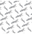 travel airplane international transport background vector image vector image
