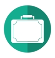 travel suitcase modern style eqipment shadow vector image