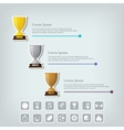 Trophy Cups and award concept Champions or vector image vector image
