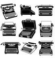 typewriter icon set simple style vector image