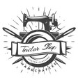 vintage black tailor label template vector image vector image