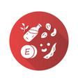 vitamin e red flat design long shadow glyph icon vector image vector image