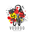 voodoo african and american magic logo doll with vector image vector image