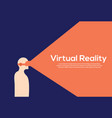 vr reality virtual reality vector image vector image