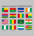 western africa countries flag set vector image