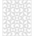 white puzzle separate pieces vector image vector image