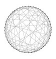 wireframe sphere from abstract futuristic vector image