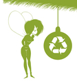 environmental xmas fairy vector image