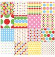 seamless circular polka dots vector image