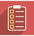 Test Form Flat Longshadow Square Icon vector image