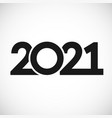 2021 straight simple vector image