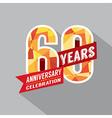 60th Year Anniversary Celebration Design vector image vector image