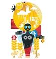 Abstract cartoon of summer woman vector image vector image