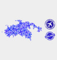 Airlines collage saint john island map and