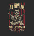 american outlaw graphic vector image