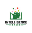 artificial intelligence technology logo vector image vector image