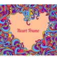 background with abstract Heart frame curls vector image vector image