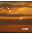Beautiful abstract lights over sunset blur vector image vector image