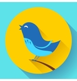Bird singing icon Flat design style vector image