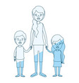 blue silhouette shading caricature full body vector image vector image