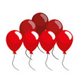 bunch balloons party on white background vector image vector image