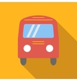 Bus colored flat icon vector image