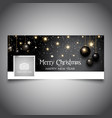 christmas baubles timeline cover design vector image vector image
