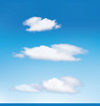 clouds in the blue sky cloud vector image vector image