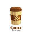 coffee disposable paper cup vector image