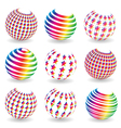 Colorful abstract set of balls vector image vector image
