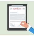 Concept Hand signs contract vector image