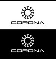 corona virus logo template with simple line art vector image vector image