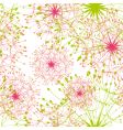 dandelion seamless pattern vector image vector image