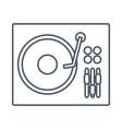 dj turntable symbol vector image vector image