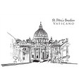 drawing sketch vatican vector image vector image