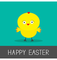 Easter chicken Flat design style Card vector image vector image
