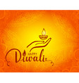 elegant card design of traditional indian festival vector image vector image