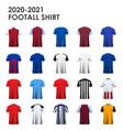 english soccer kit football jersey 2020 vector image vector image