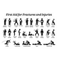 first aid for fractures and injuries on different