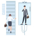 gender inequality issues concept business woman vector image vector image