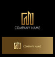 gold building line company logo vector image vector image