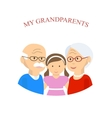 Grandparents Family with Grandchild vector image